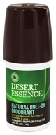 Desert Essence - Natural Roll-On Deodorant With Eco-Harvest Tea Tree Oil Lavender & Aloe - 2 oz. (718334220291)