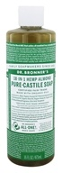 18-in-1 Hemp Pure Castile Liquid Soap Almond - 16 fl. oz.