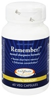 Enzymatic Therapy - Remember Mental Sharpness Formula - 60 Vegetarian Capsules