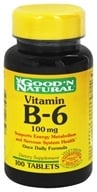 Good 'N Natural - Vitamin B-6 100 mg. - 100 Tablets - $3.52