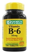 Good 'N Natural - Vitamin B-6 50 mg. - 100 Tablets, from category: Vitamins & Minerals