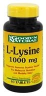 Good 'N Natural - L-Lysine 1000 mg. - 60 Tablets - $3.17