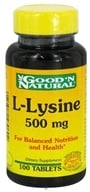 Good 'N Natural - L-Lysine 500 mg. - 100 Tablets