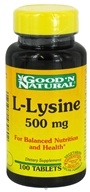 Good 'N Natural - L-Lysine 500 mg. - 100 Tablets - $3.58