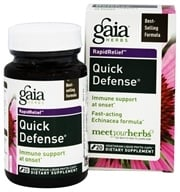 Gaia Herbs - Rapid Relief Quick Defense - 20 Vegetarian Capsules