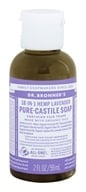 Image of Dr. Bronners - Magic Pure-Castile Soap Organic Lavender - 2 oz.