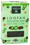 Earth Therapeutics - Loofah Exfoliating Soap Aloe & Kiwi - 4 oz. - $2.87