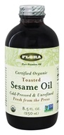 Flora - Toasted Sesame Oil Certified Organic - 8.5 oz. by Flora