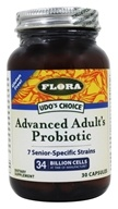 Flora - Udo's Choice Advanced Adult's Probiotic - 30 Vegetarian Capsules, from category: Nutritional Supplements