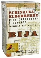 Flora - Bija Echinacea Elderberry Herbal Tea Blend Caffeine Free - 20 Tea Bags by Flora