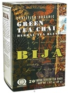 Flora - Bija Green Tea Chai Herbal Tea Certified Organic - 20 Tea Bags by Flora