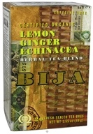 Flora - Bija Lemon Ginger Echinacea Herbal Tea Certified Organic Caffeine Free - 20 Tea Bags by Flora