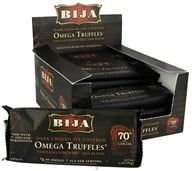 Flora - Bija Omega Truffles 70% Cocoa Dark Chocolate with Cocoa Filling - 1.59 oz. by Flora