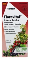 Flora - Floravital Iron & Herbs Yeast Free - 17 oz., from category: Vitamins & Minerals