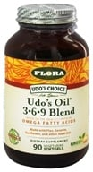 Flora - Udo's Choice Udo's Oil 3-6-9 Blend - 90 Capsules Formerly Udo's Choice Oil Blend