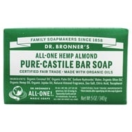 Dr. Bronners - Magic Pure-Castile Bar Soap Organic Almond - 5 oz. (018787781050)