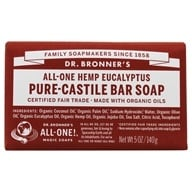 Dr. Bronners - Magic Pure-Castile Bar Soap Organic Eucalyptus - 5 oz. (018787783054)