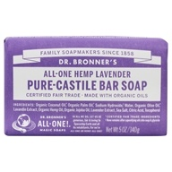 Dr. Bronners - Magic Pure-Castile Bar Soap Organic Lavender - 5 oz. (018787784051)