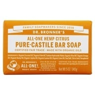 Dr. Bronners - Magic Pure-Castile Bar Soap Organic Citrus Orange - 5 oz. - $4.09