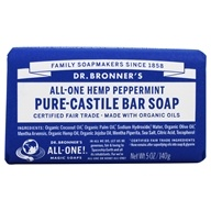 Dr. Bronners - Magic Pure-Castile Bar Soap Organic Peppermint - 5 oz. (018787785058)