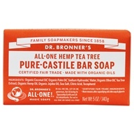 Image of Dr. Bronners - Magic Pure-Castile Bar Soap Organic Tea Tree - 5 oz.