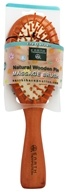 Earth Therapeutics - Natural Wooden Pin Medium Massage Brush by Earth Therapeutics