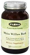 Flora - White Willow Bark Extract - 30 Capsules - $10.79
