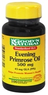 Good 'N Natural - Evening Primrose Oil 500 mg. - 100 Softgels - $5.40