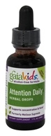 Image of Gaia Herbs - Gaia Kids Alcohol Free Attention Daily Herbal Drops - 1 oz. Formerly Melissa Supreme