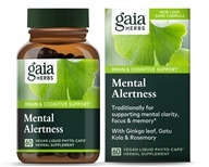Gaia Herbs - Mental Alertness Liquid Phyto Capsules - 60 Vegetarian Capsules, from category: Nutritional Supplements