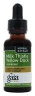 Image of Gaia Herbs - Milk Thistle Yellow Dock Supreme - 1 oz.