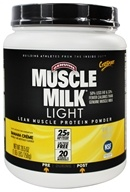 Cytosport - Muscle Milk Genuine Light Lower Calorie Lean Muscle Protein Banana Creme - 26.4 oz. by Cytosport