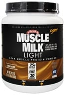 Image of Cytosport - Muscle Milk Genuine Light Lower Calorie Lean Muscle Protein Chocolate - 26.4 oz.