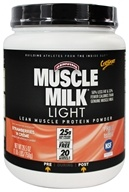 Cytosport - Muscle Milk Genuine Light Lower Calorie Lean Muscle Protein Strawberries 'n Creme - 26.4 oz. by Cytosport