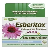 Enzymatic Therapy - Esberitox Supercharged Echinacea - 200 Chewable Tablets