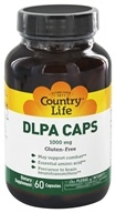 Image of Country Life - DLPA Caps Free Form Amino Acid Supplement with Vitamin B-6 Super Potency 1000 mg. - 60 Vegetarian Capsules