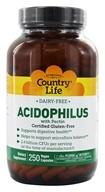 Country Life - Acidophilus Probiotic Dairy-Free - 250 Vegetarian Capsules, from category: Nutritional Supplements