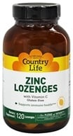 Country Life - Zinc Lozenges with Vitamin C Lemon Flavor - 120 Lozenges (015794029410)