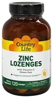 Country Life - Zinc Lozenges with Vitamin C Lemon Flavor - 120 Lozenges