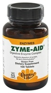 Image of Country Life - Zyme-Aid Digestive Enzyme Complex - 100 Tablets
