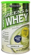 Biochem by Country Life - 100% Greens & Whey Powder Vanilla - 10.3 oz., from category: Sports Nutrition