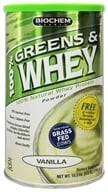 Biochem by Country Life - 100% Greens & Whey Powder Vanilla - 10.3 oz. (015794018018)