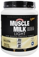 Image of Cytosport - Muscle Milk Genuine Light Lower Calorie Lean Muscle Protein Vanilla Creme - 26.4 oz.