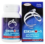 Enzymatic Therapy - Eskimo-3 Natural Stable Fish Oil Ultra-Pure Omega-3 500 mg. - 105 Softgels ...