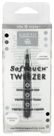 Earth Therapeutics - SoftTouch Tweezer Stainless Steel Black by Earth Therapeutics