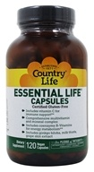 Country Life - Essential Life Capsules Daily Multi-Nutrient Complex - 120 Capsules (015794081142)