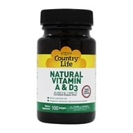 Image of Country Life - Natural Vitamin A & D3 From Cod Liver Oil 10,000 IU/400 IU - 100 Softgels