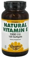 Image of Country Life - Natural Vitamin E 1000 IU - 120 Softgels