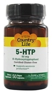 Country Life - 5-HTP 5-Hydroxytryptophan 50 mg. - 50 Vegetarian Capsules Formerly Biochem by Country Life