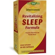 Enzymatic Therapy - Revitalizing Sleep Formula contains Wild Lettuce Extract - 90 Vegetarian Capsules by Enzymatic Therapy